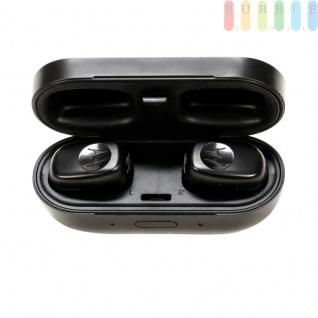 Bluetooth Kopfhörer wasserdicht, Kabelloser In Ear Stereo-Kopfhörer Motorola Stream, mit Ladeetui, Ear-Pads in 3 Größen, Sportohrbügel, Micro-USB-Ladekabel