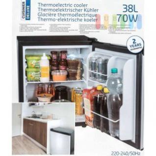 Mini-Kühlschrank von Cuisinier Deluxe, freistehend, thermoelektrisch, geräuscharm, Volumen ca. 38 l, Höhe ca. 50 cm
