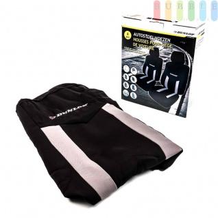 Autositzbezüge-Set Dunlop für die Vordersitze mit/ohne Seitenairbag, 6-teilig, Farbe Grau