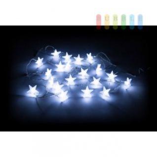 LED-Lichterkette von Christmas Gifts, 20 weiße LED-Sterne, ON-OFF-Schalter, Indoor-Verwendung, Batteriebetrieb, Länge ca. 430 cm
