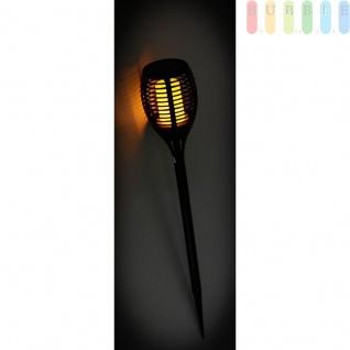 Solarleuchte 72 LEDs Flammen Optik Garten Solarlampen Wegbeleuchtung, ca. 6 Std. Leuchtdauer, On/Off-Schalter, Höheca.76, 5 cm