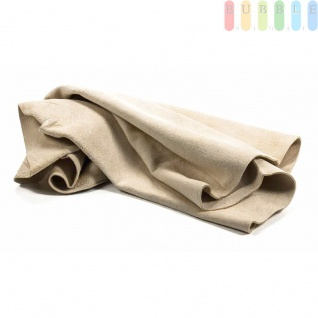 Leder-Tuch von ALL Ride für die Fahrzeugpflege, natürlich, streifenfrei, weich, Größeca.55x33cm - Vorschau 2