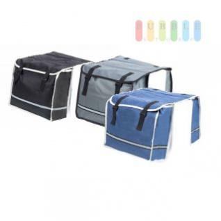 Doppelte Fahrradtasche von Bicycle Gear für den Gepäckträger, wasserbeständig, Klett-Montage, lieferbar in den Farben Schwarz, Grau oder Blau