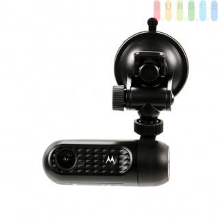 Autokamera Dashcam MDC 10W von Motorola, rotierbar 360° für Innen u. Außen, Weitwinkelobjektiv, HD-Video Loop, Mikro, WLAN, IOS + Android kompatibel, DC und USB-Anschluß