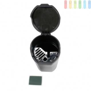 Aschenbecher als Mini-Mülltonne von Allride, für Getränkehalter oder Magnet-Halterung, flexibel, schwarz - Vorschau 3