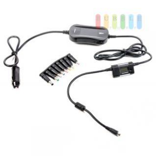 Laptop-Spannungswandler Grundig mit Digitalanzeige, 5-fach Geräteschutz, 8 Adapter-Stecker, 1 x USB, max. 24V/4, 5A/90W