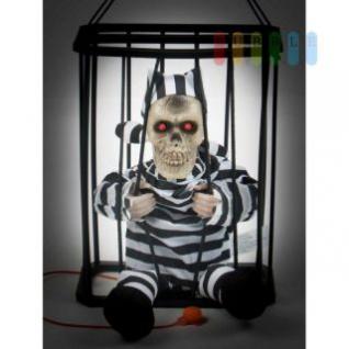 Halloween Figur von Arti Casa, spricht, leuchtet und bewegt sich auf Knopfdruck, 2 rote LEDs, Höhe ca. 27 cm