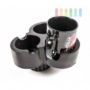 Getränkehalter-Erweiterung, ALLRide, aus 1 mach 3, mit Tassen-Henkel-Kerben, flexibel - Vorschau 2