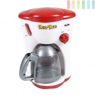 Kinder Kaffeemaschine mit Licht von EDDY TOYs, Wasserdurchlauf, An/Aus-Schalter mit Betriebsleuchte, Batteriebetrieb