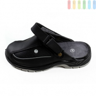 Clogs Sicherheits-Sandale von ALL Ride, Sicherheitsschuh mit Klettverschluss, schwarz/grau, Größe 43 - Vorschau 5