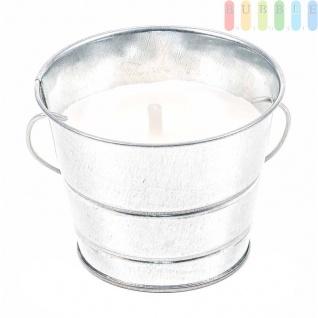 Zitronenöl-Kerze im Metalleimer von ArtiCasa mit Henkel, Mückenschutz, Dekoration, Outdoor, Höhe8cm