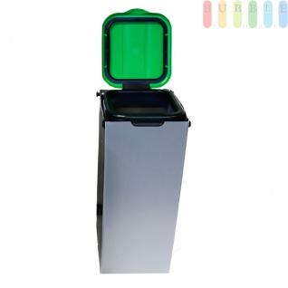 Müllsackständer zur Mülltrennung inkl. Klemmvorrichtung, Mülltüte 20 - 130 Liter, Höhe ca. 76 cm, Grün