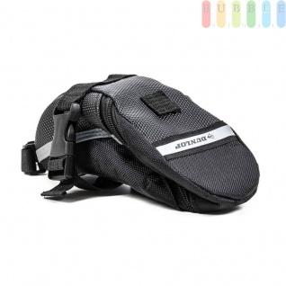 Fahrrad Satteltasche von Dunlop, Klett-/Klick-Montage, reflektierendeStreifen, wasserdicht, Größeca.20x10/5x8cm, Farbe Schwarz - Vorschau 2