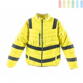 Sicherheits-Stepp- / Übergangsjacke von Terrax Work Wear, entspricht EN ISO 20471:2013, Stehkragen, leichtgefüttert, modernesDesign, waschbar, gelb, umweltfreundlich, Größe 2x XL