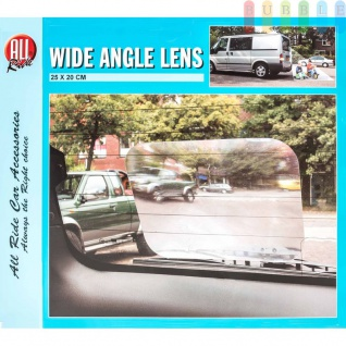 Weitwinkellinse für Fahrzeuge, Kunststoff selbstklebend, wiederverwendbar, Größeca.25x20cm