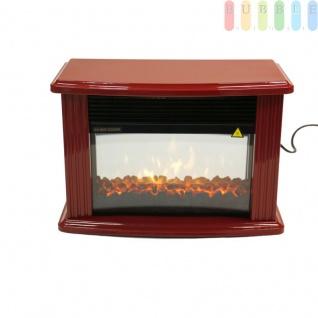 Elektrischer Kamin mit Holzfeuer- bzw. Kohlesimulation von CLASSICFIRE, kompaktes Design, 2 Heizstufen, 230V/ max. 1500 W