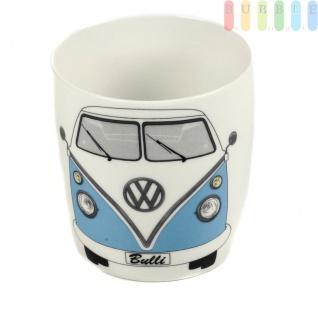 VW T1 Bus Kaffeetasse, Kaffeebecher im Geschenkkarton aus New Bone China-Porzellan, Sammler-Stück, VW-Kollektion, Retro-Design, 370 ml, hellblau