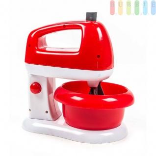 Kinder Spielzeug Küchenmaschine von EDDY TOYs, Mixer dreht, Betriebsleuchte aktiv, Kippfunktion, Schüssel entnehmbar, Batteriebetrieb, Größeca.18 x19, 5 x13cm