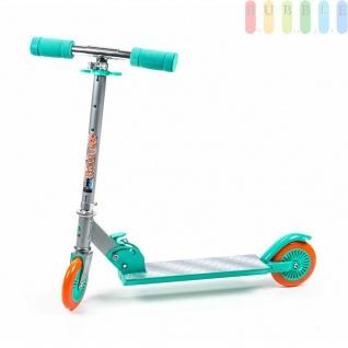 Kinder-City-Roller von EDDY TOYs, klappbar, Bremse hinten, ABEC5-Kugellager, Größeca.66x9, 5x71cm, Farbe Türkis