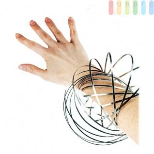 Flow Ring von Toi Toys, Spirale aus Edelstahl, kinetisches Spielzeug, entspannend oder interaktiv Ø ca. 13 cm