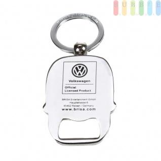 VW T1 Bus Schlüsselanhänger mit Flaschenöffner, Front-Design, Sammlerstück aus VW-Kollektion, Zink-Aluminium vernickelt, emailliert, blau - Vorschau 4