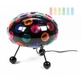 Disco-Leuchte von Grundig mit Aufhängung und Standfüßen, Ein-/Aus-Schalter, Birne austauschbar, schwarz - Vorschau 1