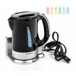 Wasserkocher von Dometic mit Halterung, automatische Abschaltung, Trockenkochschutz, Volumen 0, 75 Liter, schwarz/silber, 12V/200W