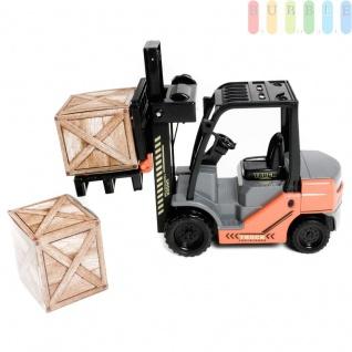 Gabelstapler von Gear Box mit Friktionsantrieb, 2 Kisten, 1 Palette, manuelle Hebefunktion, Länge ca. 25 cm - Vorschau 3