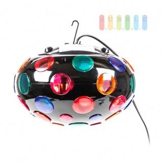 Disco-Leuchte von Grundig mit Aufhängung und Standfüßen, Ein-/Aus-Schalter, Birne austauschbar, schwarz - Vorschau 3