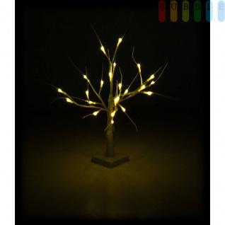 LED-Weihnachtsbaum von Christmas Gifts, biegsame Äste, 24 weiße LEDs, Ein-Aus-Schiebeschalter, Batteriebetrieb, Höheca.55cm