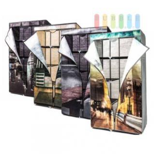 Faltkleiderschrank, 1 Kleiderstange, 6 Ablagen, werkzeuglose Montage, Größe 160 x 88 x 45 cm, lieferbar in 4 Designs