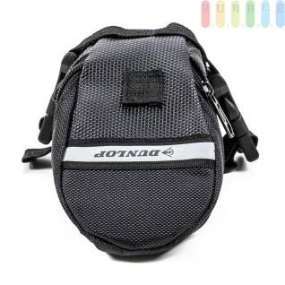 Fahrrad Satteltasche von Dunlop, Klett-/Klick-Montage, reflektierendeStreifen, wasserdicht, Größeca.20x10/5x8cm, Farbe Schwarz - Vorschau 3