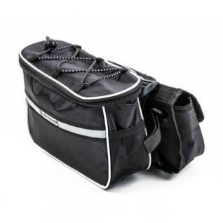 Fahrrad-Rahmen/Lenker-Tasche von Dunlop zum Umhängen mit Flaschenhalter, 3 Taschen, Klett-Montage, flexibel, sicher, mobil Größe ca. 23 x 13 x 16 cm