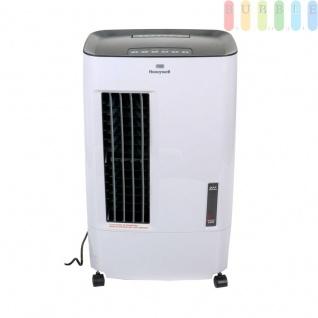 Mobiler Verdunstungsluftkühler von Honeywell, kräftiger Luftstrom, 5 Stufen, sparsam im Verbrauch, Timer, 4 Räder, Wasserkapazität ca. 7 L, Fernbedienung, 32W, 110-240V, weiß