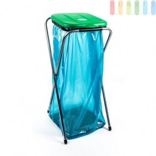 Müllsackständer/Müllbeutelhalter für einen Müllbeutel, von 60 bis 130 l Volumen, in gelb, grün und blau