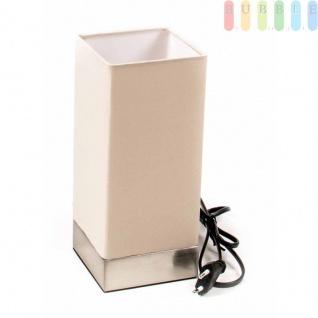 Tischlampe von Grundig mit Touch-Sensor, elegantesDesign, 3 Leuchtstufen, Fassung E14, 25/5W, eckig