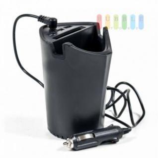 Handyhalter / Ladestation / Ablage von ALL Ride für den Getränkehalter, 3 USB-Buchsen, 4, 1A total, 12-24V DC