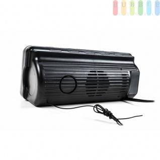 Radiowecker von Dunlop, Display besonders groß, 10 Speicherplätze, Snooze-Taste, Sleep-Funktion, Oldschool-Design, Farbe Schwarz - Vorschau 5