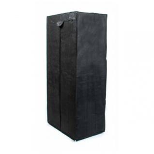 Faltkleiderschrank, 1 Kleiderstange, Steck-Montage, Größe 160 x 75 x 50 cm, Farbe Schwarz
