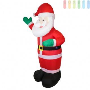Aufblasbarer Weihnachtsmann (H) ca.180 cm mit Gebläse und Beleuchtung von Christmas Gifts, für Privat und Gewerbe, Indoor / Outdoor, Montage-Material enthalten, Netzanschluß 220-240V