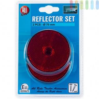 Reflektoren-Set ALL Ride geschraubt, Farbe Rot, 2 Stück, rund, 7cm