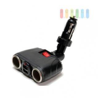 Steckdose/USB-Adapter ALL Ride 2-fach, Stecksystem, Gelenk, 2 x USB, 12/24V, 8A