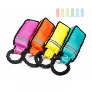 Hundespielzeug Schleuderball von Pet Toys, Tennisball mit Fahne, Länge ca. 37 cm, lieferbar in den Farben Schwarz, Grün oder Rot