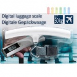 Kofferwaage digital mit LCD-Diplay, Anzeige in Kilo und Pound, Belastung max. 50kg