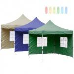 Gartenpavillon / Falt-Pavillon, 3 x 3 m, 2 Seitenwände mit Reißverschluss-Befestigung, wasserdicht, lieferbar in den Farben Beige, Blau oder Grün