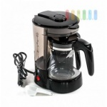 Kaffeemaschine ALL Ride für 6 Tassen, Glaskanne, Warmhaltefunktion, Dauerfilter, Messlöffel, 24V/300W