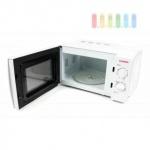 Mikrowelle von Cuisinier Elegance, Glasteller, 30 Minuten-Timer, 6 Leistungsstufen, weiß, 700W