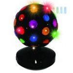 Disco-Lampe PartyFunLights, rotierend, bunte Reflektoren, 9 LEDs, Ø 20 cm