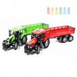 Traktorgespann von Gearbox mit Kipp- und Lenk-Funktion, Länge ca. 70 cm, lieferbar in den Farben Grün oder Rot