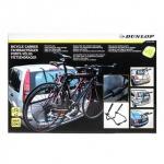 Heckklappen-Fahrradträger von Dunlop, alle Fahrzeugtypen, flexibel, platzsparend, Nutzlast max. 30 kg für 2 Fahrräder, Zubehör inklusive, Farbe Schwarz